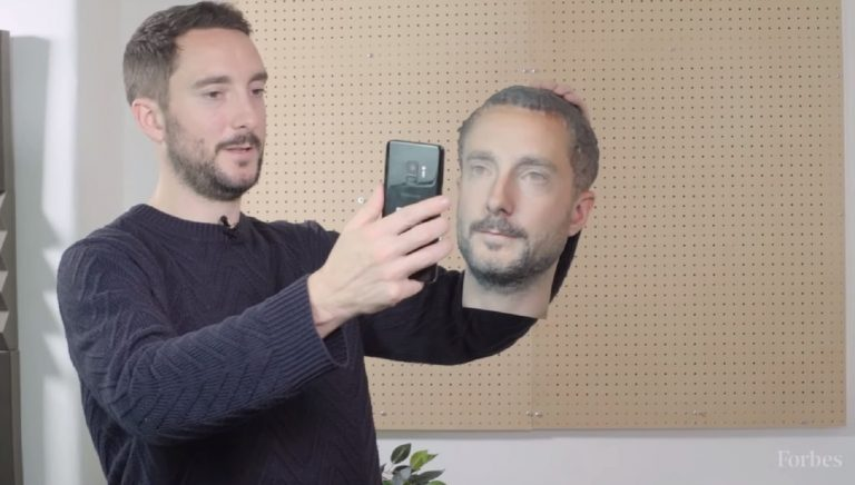 Android Face Recognition fooled by 3D printed head