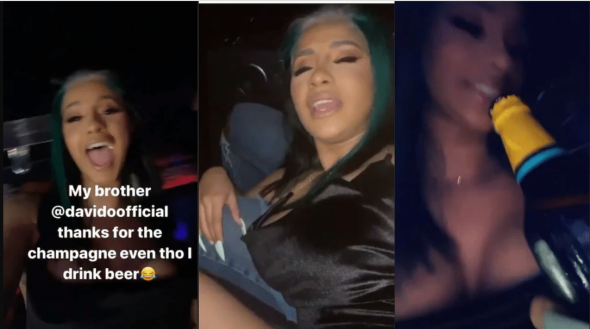 Cardi B goes drunk after taking one bottle of Nigerian beer, speaks gibberish