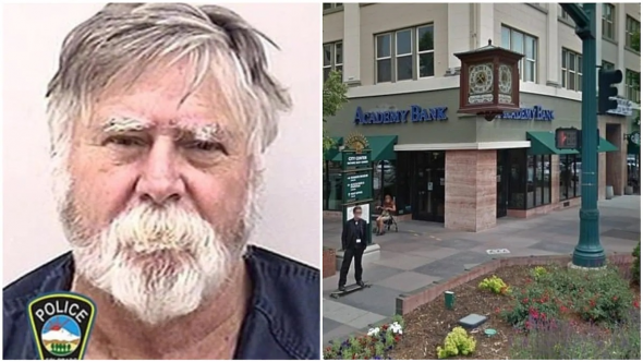 David Wayne Oliver: Man robs bank, throws stolen money in the air, shouting Merry Christmas