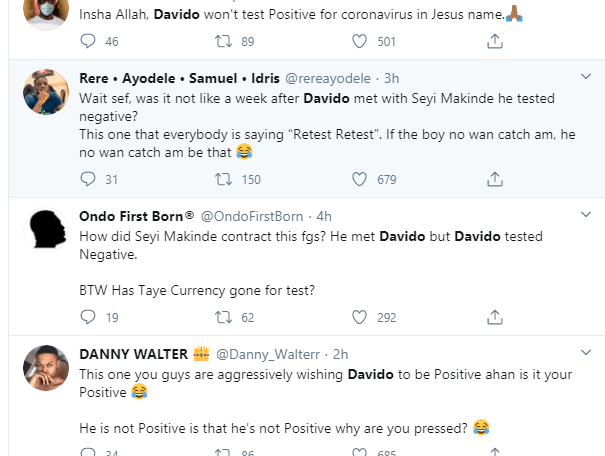 """Davido should redo the coronavirus test again"""" – Nigerians React After Governor Makinde Tested Positive For The Virus  Close This"""