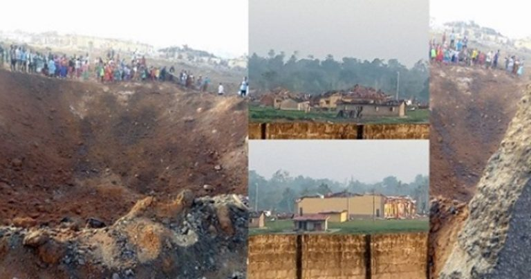 Road Splits Into Two, About 100 Houses Destroyed In Akure Explosion