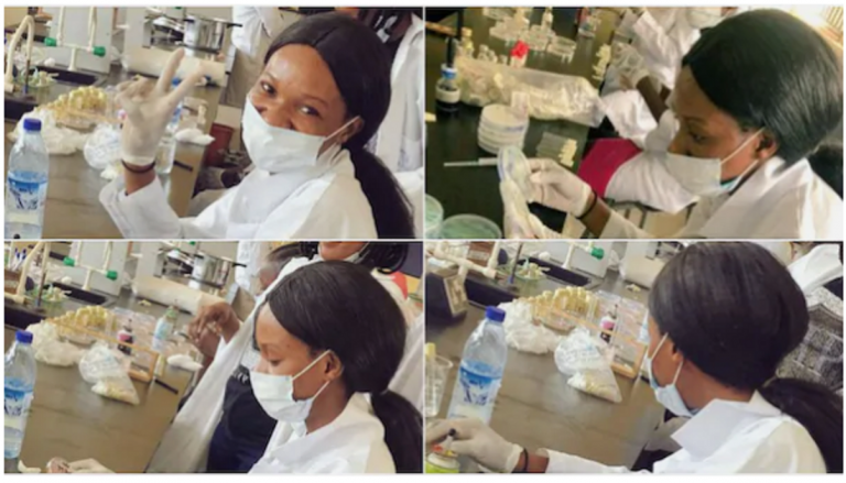coronavirus: Lady vows not to leave lab till she finds cure for disease