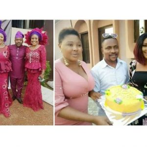 Segun Ogungbe's Second Wife, Omowunmi Reacts As He Praises First Wife, Atinuke As She Marks Birthday (Photos)