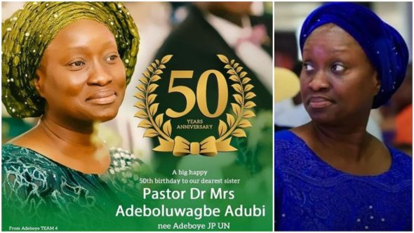 Photos of Pastor Adeboye's only daughter Bolu Adubi who recently turned 50 (PICS)