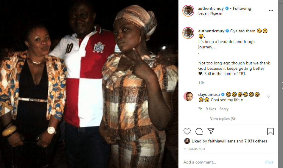 """I refuse to believe that is kemi afolabi"" – Reactions after Muyiwa Ademola shared epic old photos with Funke Akindele, Kemi Afolabi, Dayo AMusa, others (PICS)"