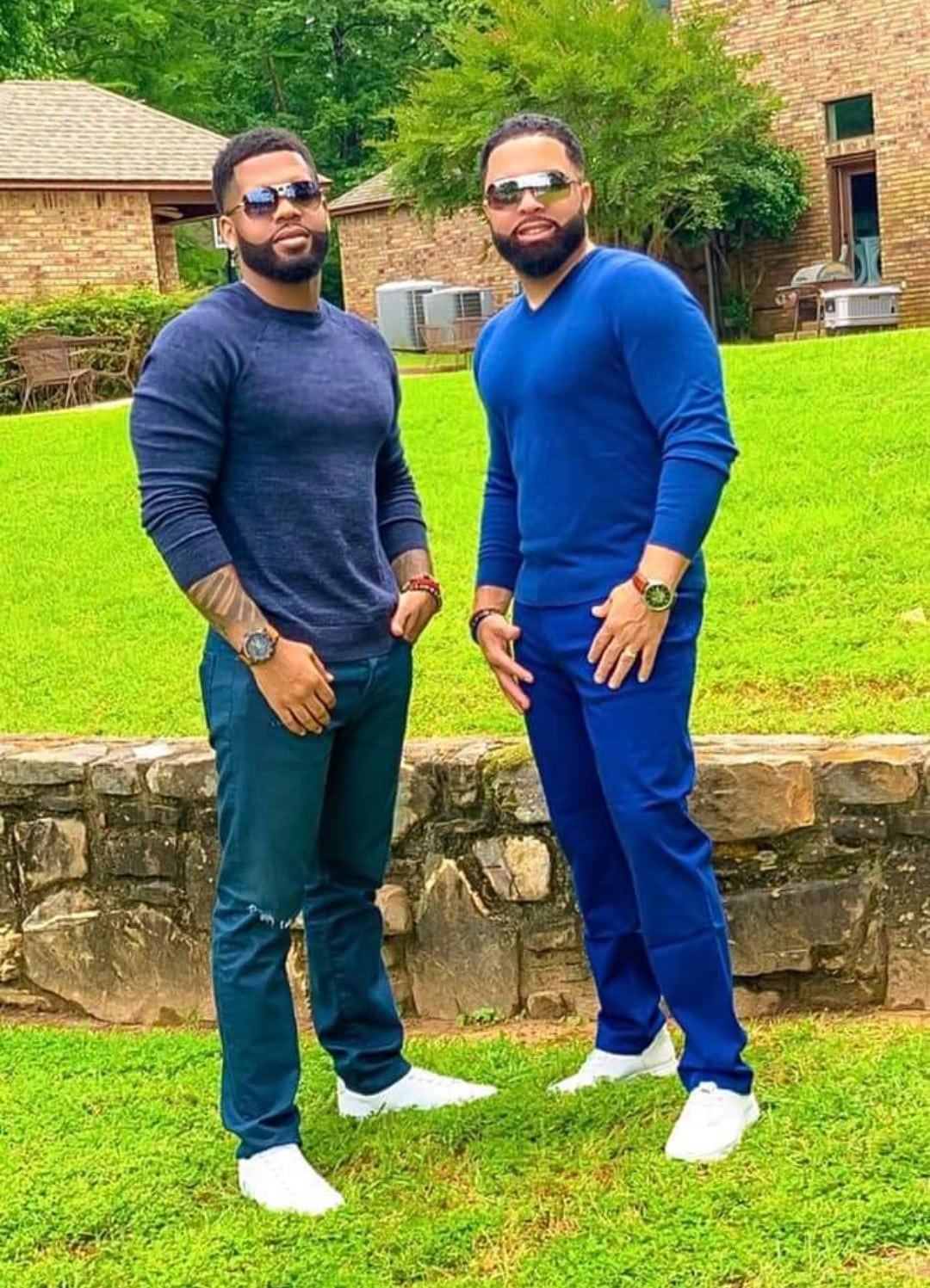 Black don't crack!: Photos Of Lookalike Father And Son Sparks Debate