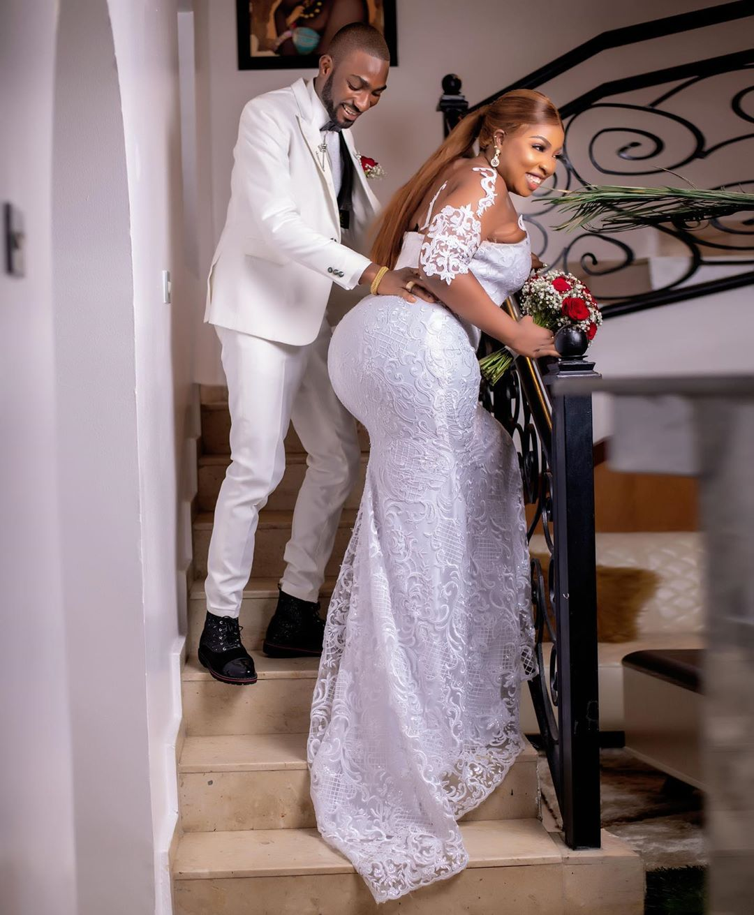 5 Nigerian Celebrity Couples Who Got Married In 2020 (PICS/VIDEO)