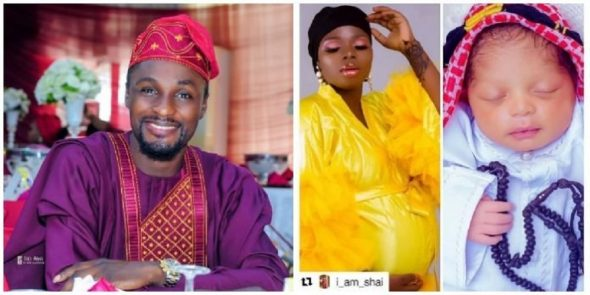 Adeniyi Johnson becomes 'grandpa' (PICS)