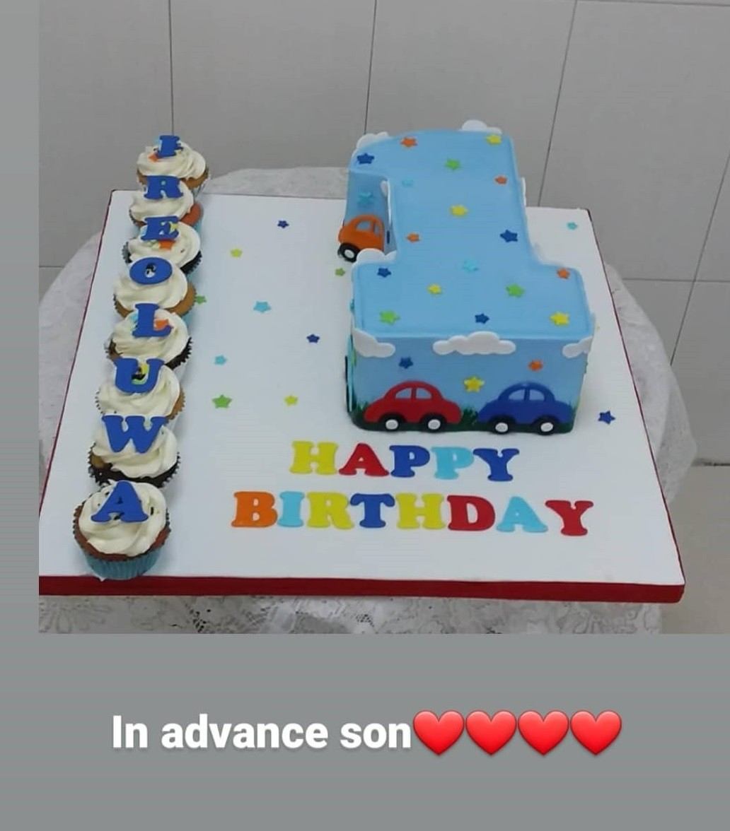 Toyin Abraham makes a special announcement on her son, Ire's birthday as he is set to become a CEO at 1 year old