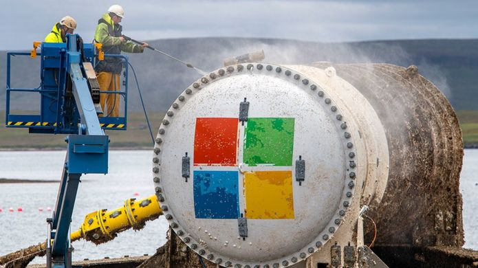 Microsoft's underwater data centre resurfaces after two years.