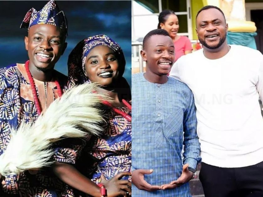 Meet Odunlade Adekola's Younger Brother, His Wife And Beautiful Children