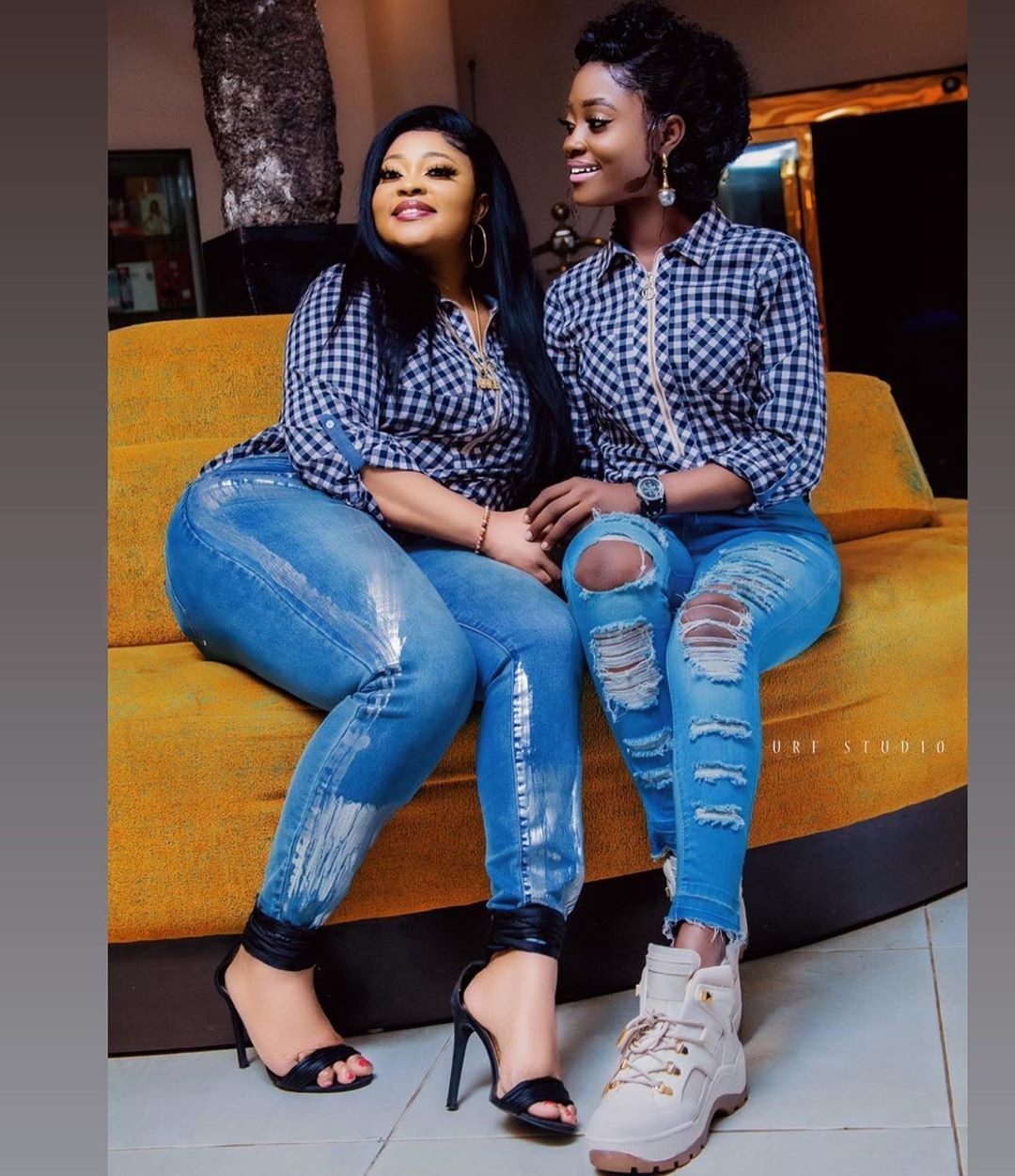 """""""Lesbians"""" – Biodun Okeowo clashes with a Troll After she Was Spotted Doing This With Her Daughter (VIDEO)"""