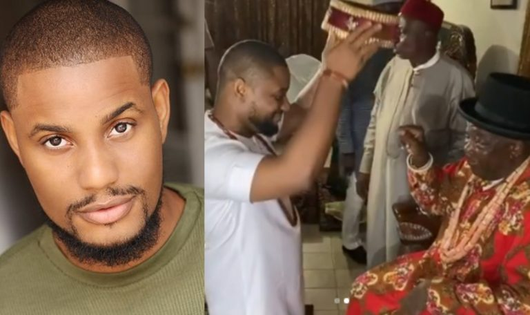 Nollywood actor, Alex Ekubo honoured with a chieftancy title in Imo state   Video