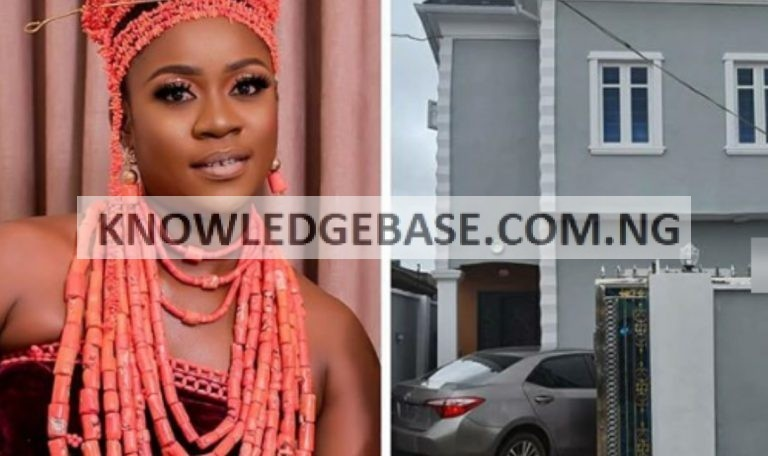Actress, Olayinka Solomon joins the league of Iyabo ojo, Mercy Aigbe as she becomes a mansion owner in Lagos  Photos