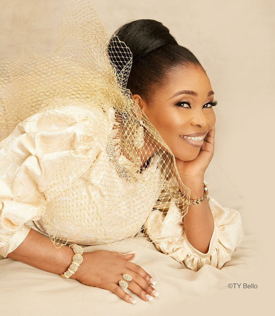 Tope Alabi celebrates 50th birthday with stunning photos