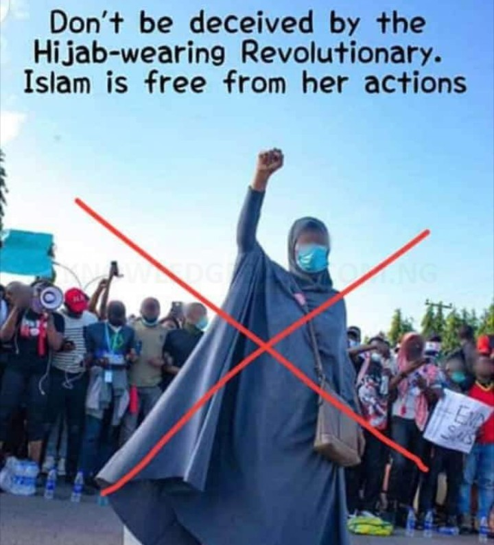 """Islam Is Against Protest"" – Man Condemns Aisha Yesufu For Taking Part In #EndSARS Protest"