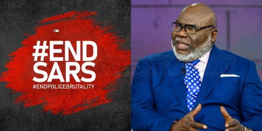 EndSARS: Nigerian lives matter, Bishop T.D Jakes writes