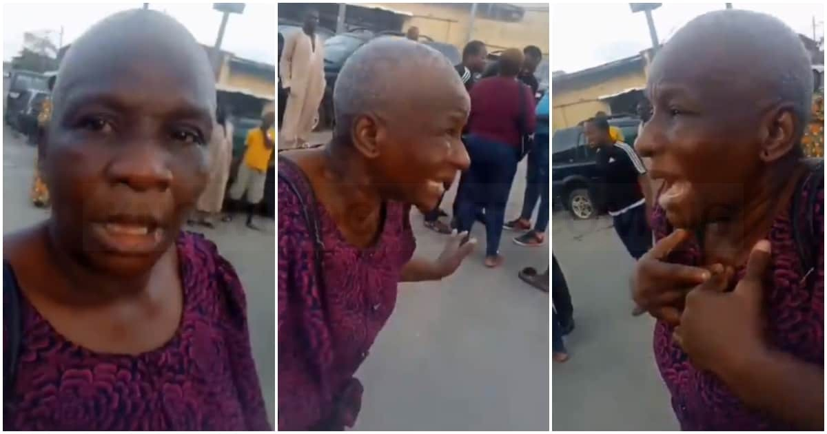 Reactions as Singer Oxlade manager's aged mum gets slapped by police officer when she visited a police station in Surulere to check on her son who was among arrested protesters (VIDEO)