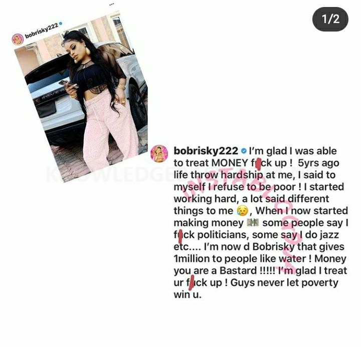 Never Let Poverty Win You – Says Bobrisky As She Recalls How Poor She Was 5yrs Ago