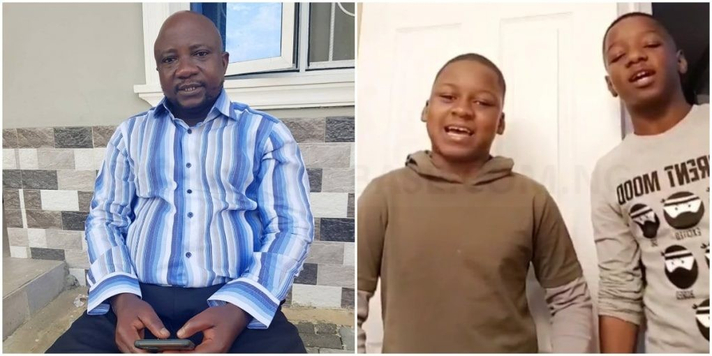 Heart-melting video of Yoruba actor, Sanyeri's Canada-based kids wishing him a happy birthday – Watch Video
