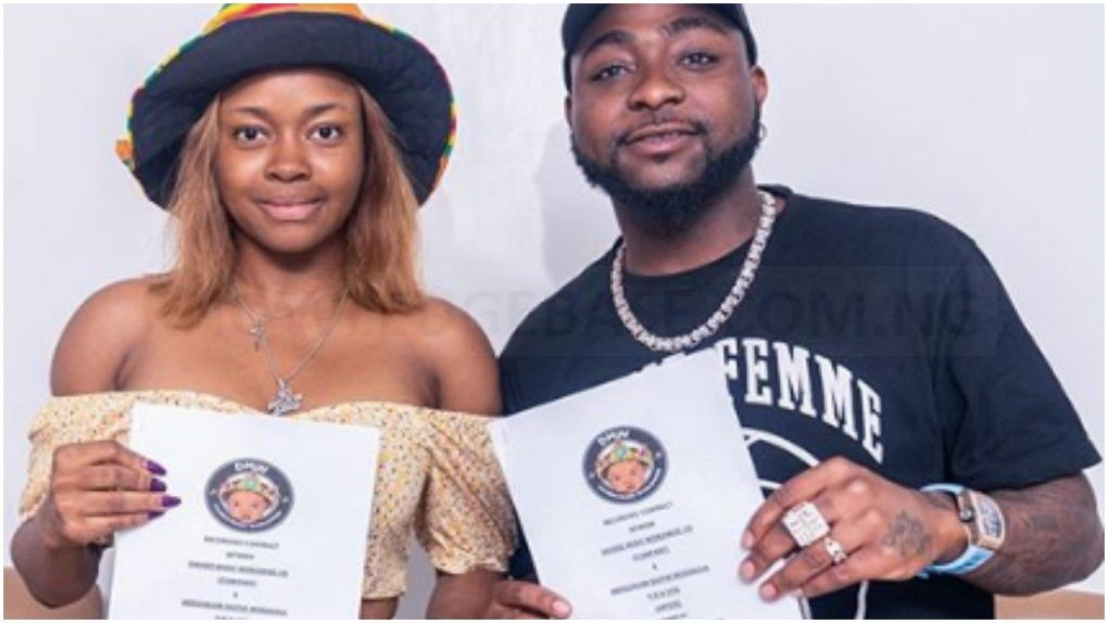 Barely 24 Hours After Dropping Lil Frosh, Davido Announces Singer, Liya As Its First Female DMW Member