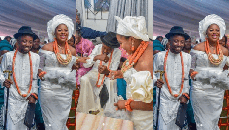Rapper Erigga weds his fiancée, Morenike, in Warri, Delta State