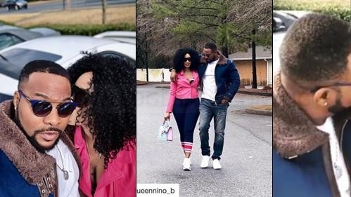 Nollywood actor Bolanle Ninolowo poses with beautiful wife in cute photo