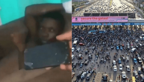 Moment Rescued Lekki Tollgate Victim Caught Stealing A Nurse's Phone At The Hospital