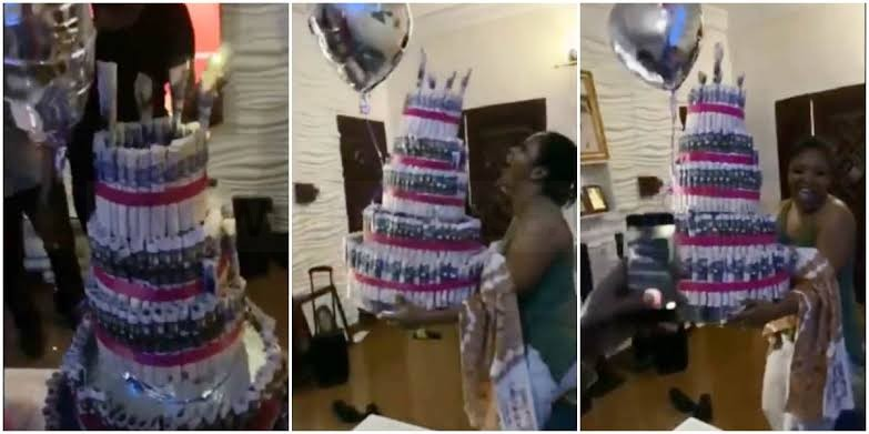 Actress Bidemi Kosoko surprised with money cake and other gifts ahead of birthday