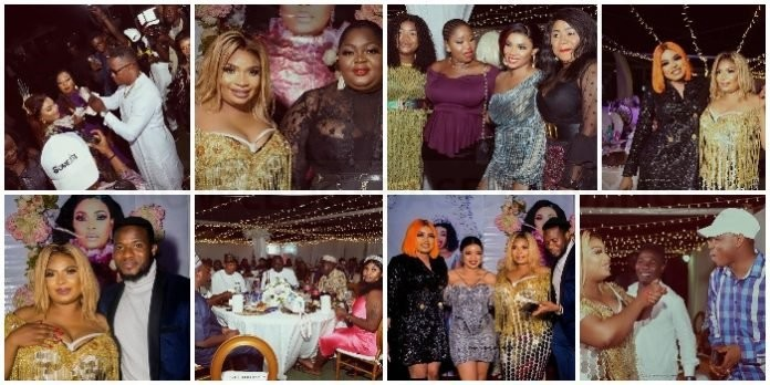 Eniola Badmus, Iyabo Ojo, Arole and other Yoruba Actors attends Laide Bakare's Lavish 40th birthday party – See photos and videos from the Party