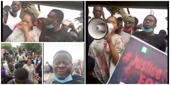 Toyin Abraham, Muyiwa Ademola Join #SARSMUSTENDNOW Protest In Ibadan – Watch Video