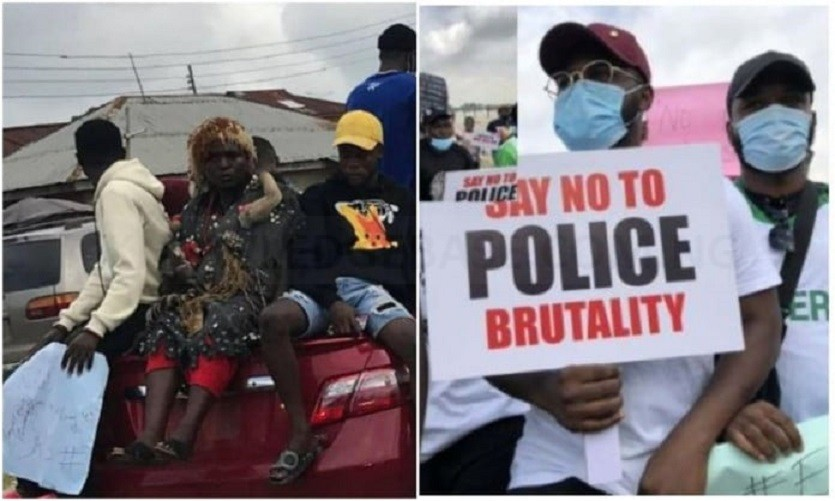 EndSARS protest : youths storm Abeokuta with charms |photos