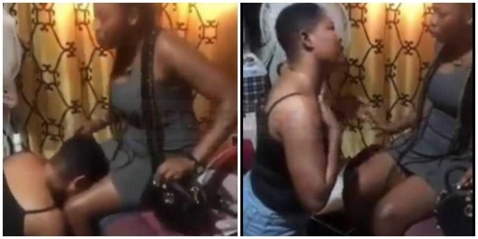 Watch the moment Heartbroken lesbian begs partner not to leave her for a man after dating for 5 years – Watch Video