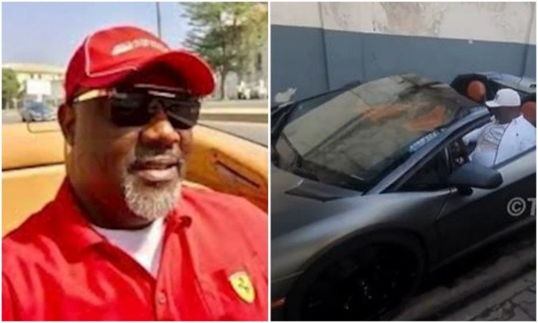 Dino Melaye splurges N460 million on a new Lamborghini Aventandor |video