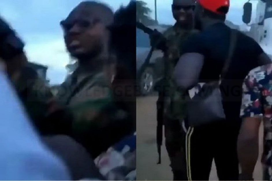 Brave Protesters Confront Soldier Who Allegedly Shot At Them In Agbara (VIDEO)