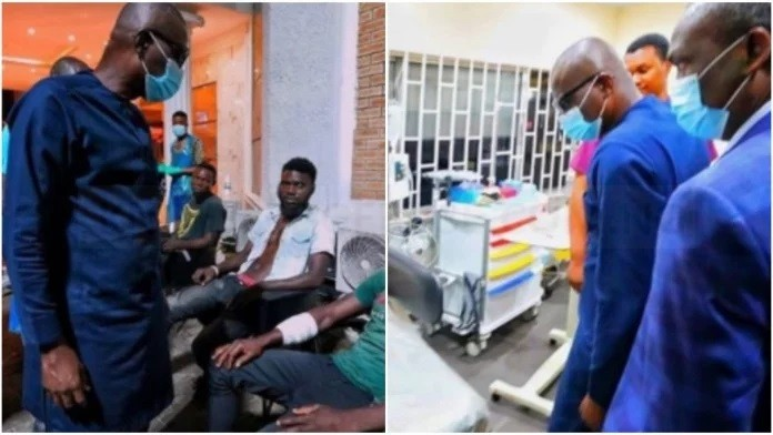 """As a Father and Governor, I watched in anguish"" Sanwo Olu visits Lekki Tollgate victims"