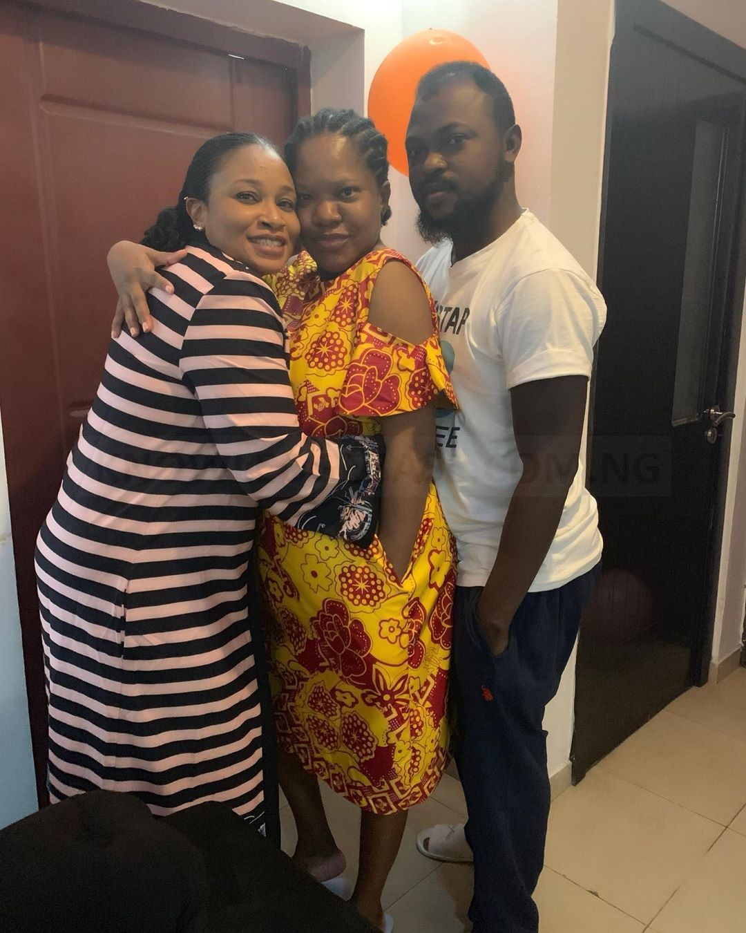 Meet Toyin Abraham's Sister-In-Law who gave birth to Quadruplet (PICS)