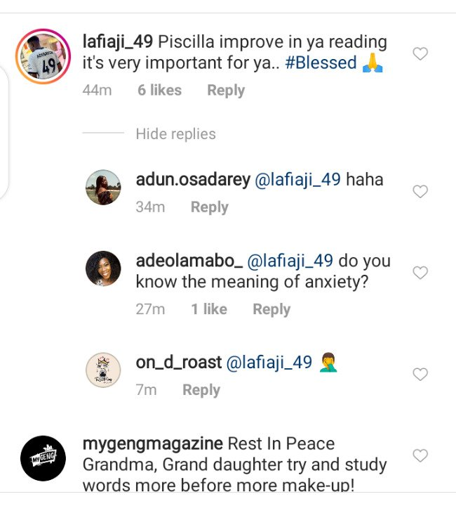 """""""Priscilla Improve On Your Reading"""" – Fan reacts to the way Iyabo Ojo's Daughter, Priscilla read her farewell speech At Her Grandma's Wake Keep (VIDEO)"""