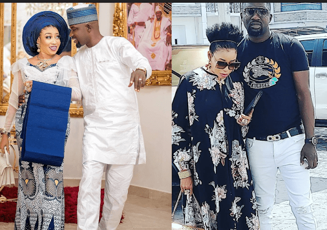Beautiful People everywhere: Lizzy Anjorin and Her Husband, Step out in style.
