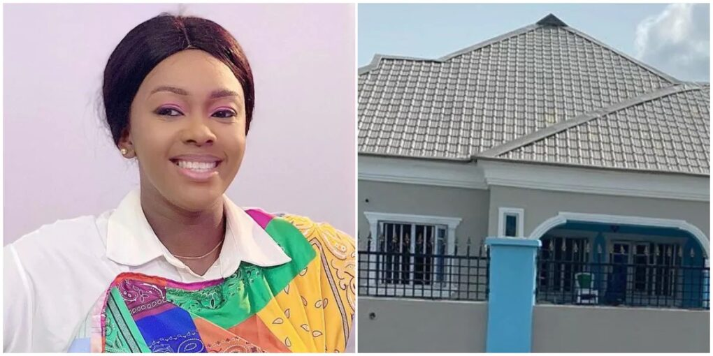Actress Kiitan Bukola shares video, photo as she becomes house owner  (Photos and Videos)