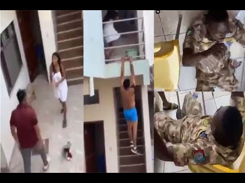 "Man Jumps Building After Being Caught ""Ch0pping"" Another Man's Girlfriend (Video)"