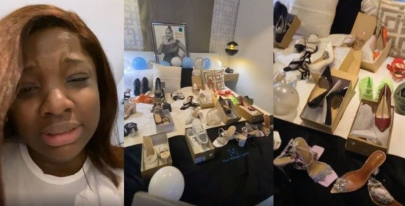 Fans gift BBNaija star, Dorathy 25 pairs of shoes on her 25th birthday