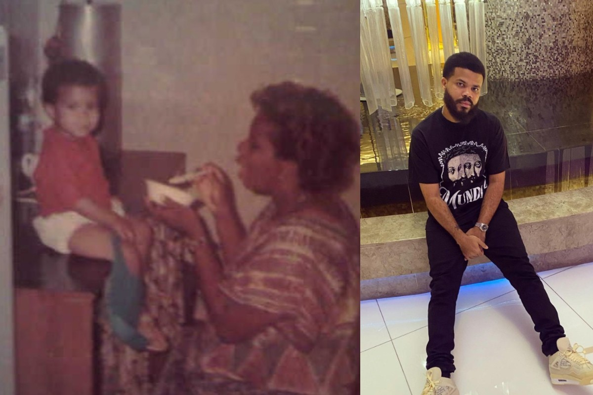 Davido's Manager, Asa Asika Celebrates His Mother's Birthday With These Lovely Throwback Photos