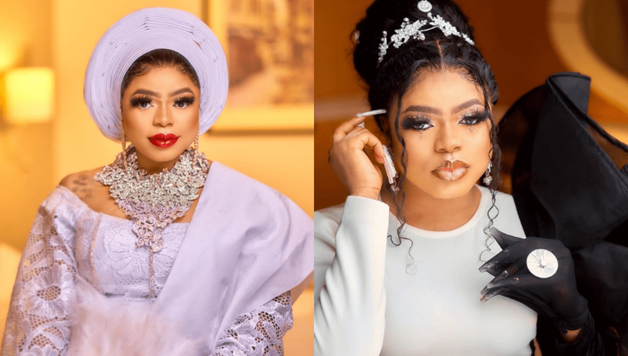 Nigerians react as video of Bobrisky chilling in bed with his alleged lover, surfaces