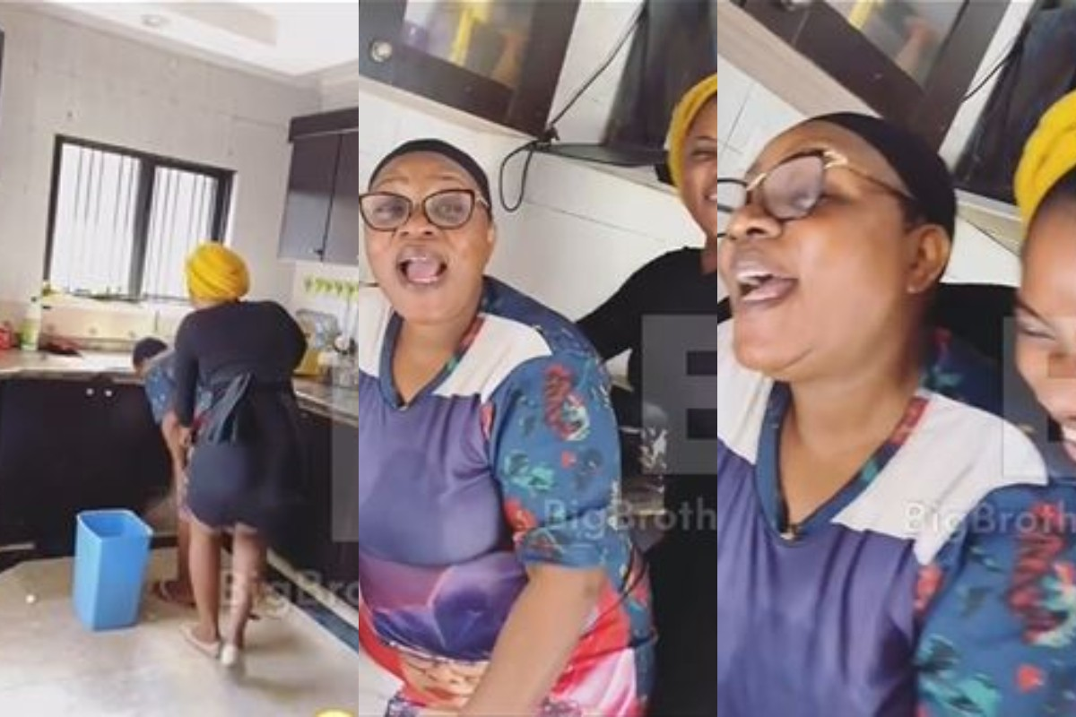 Watch How Tobi Bakre's Girlfriend, Anu Surprised Her Mother In-law At Home (Video)