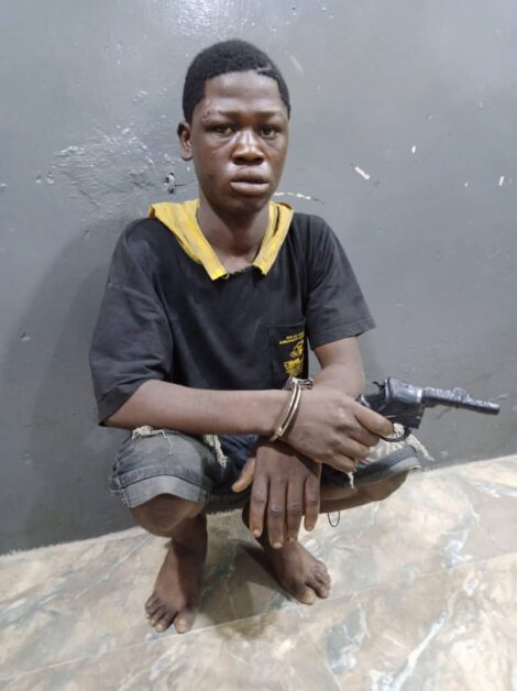 Police Arrest 19-year-old Suspected Robber With Dummy Gun In Lagos