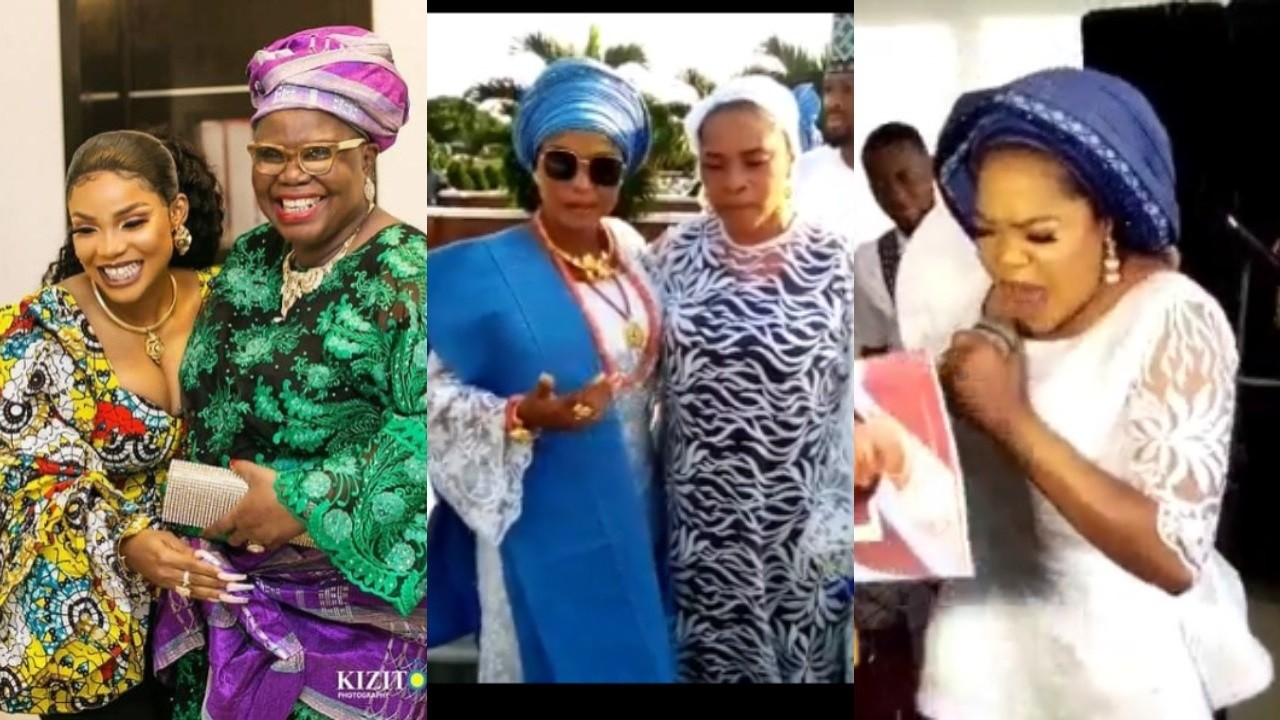 Videos from the burial ceremony of Actress, Iyabo Ojo's mother