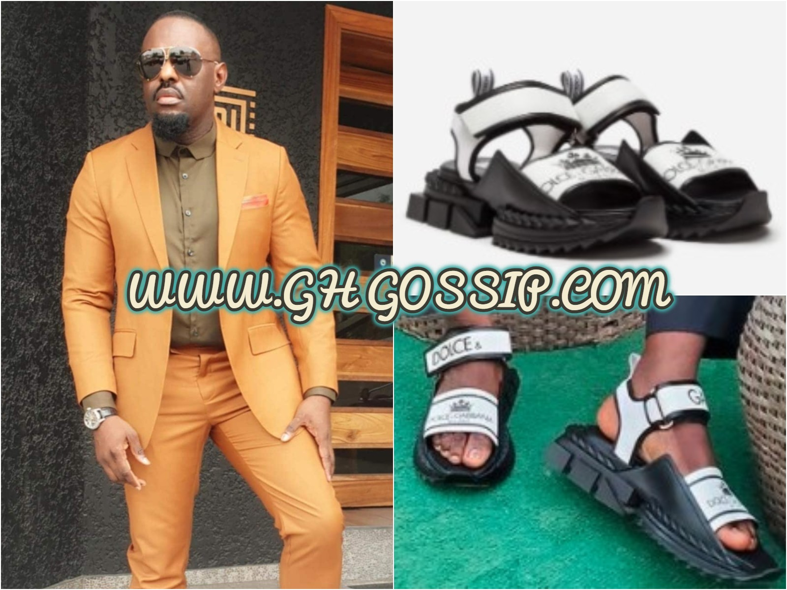 See The Cost Of The D&G Sandal Nollywood Actor, Jim Iyke Wore Today That Got People Talking
