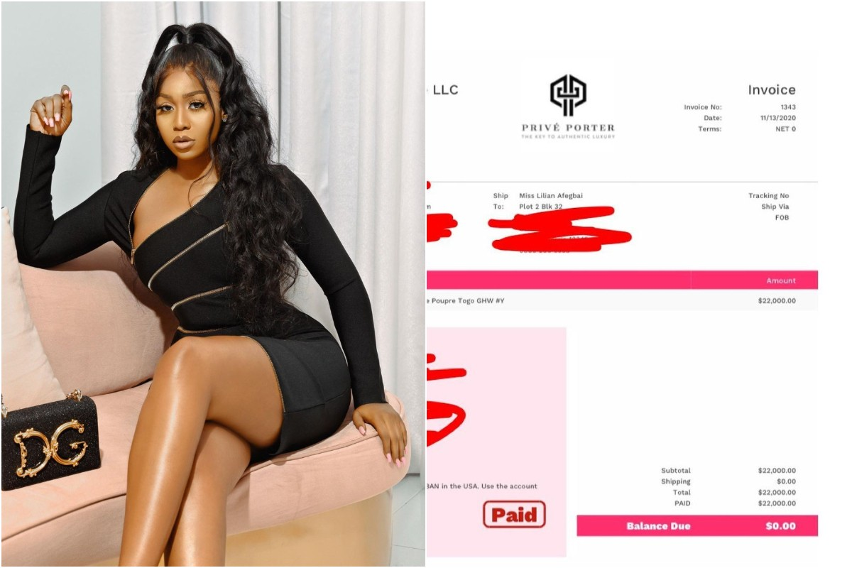 Check Out Photos Of The Expensive Bag Actress, Lilian Afegbai Bought For Over $20,000
