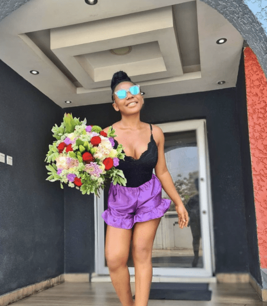 Ifu Ennada Reacts After Receiving These Expensive Flowers From A Stranger